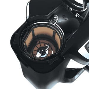 Attached Grinder in the filter of Black And Decker CM5000B 12Cup Mill And Brew Coffee Maker